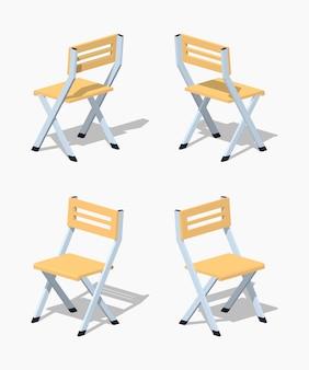 Chaise pliante isométrique 3d