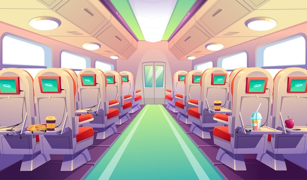 Chaises de bus, de train ou d'avion avec tables pliantes