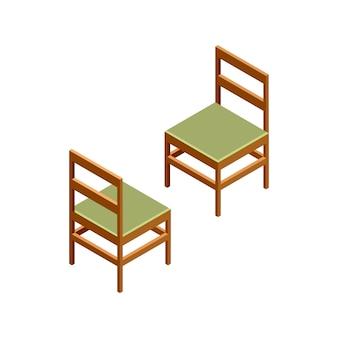 Chaises isométriques 3d