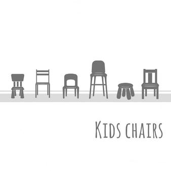 Les chaises pour les enfants