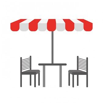 Chaises de table tente
