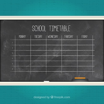 Chalk timtable scolaire