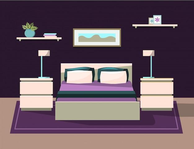 Chambre à coucher avec meubles