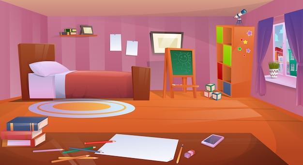 Chambre d'enfants de dessin animé