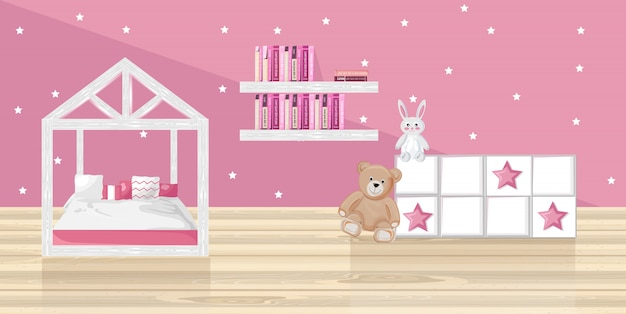 Chambre fille rose