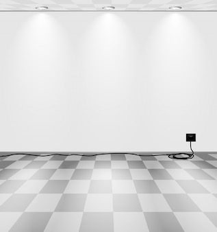 Chambre grise avec cordon