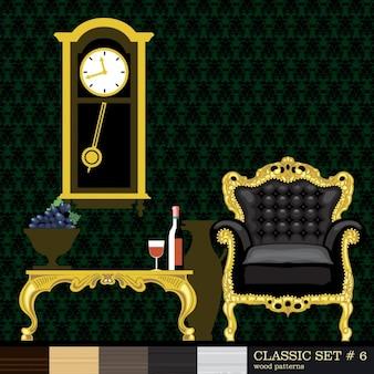 Chambre avec ornements d'or