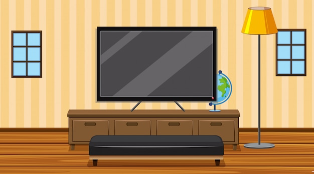 Chambre avec télé grand écran dans la chambre