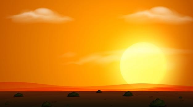 Champ au coucher du soleil