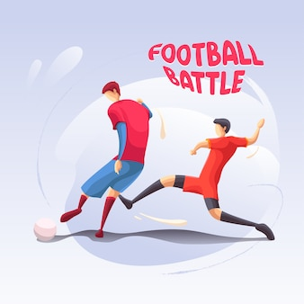 Le champ de bataille de football soccer