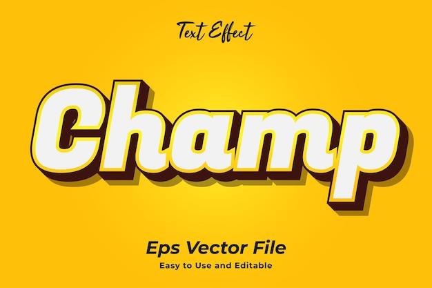 Champ d'effet de texte modifiable et facile à utiliser vecteur premium