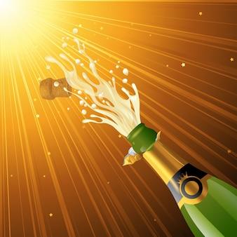 Champagne éclaboussant