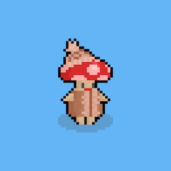 Champater de dessin animé de pixel art avec pull.