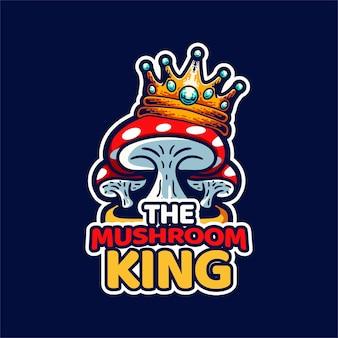 Le champignon roi avec couronne sur le dessus