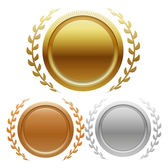 Champion des médailles d'or, d'argent et de bronze
