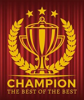 Champion le meilleur du meilleur vecteur golden cup