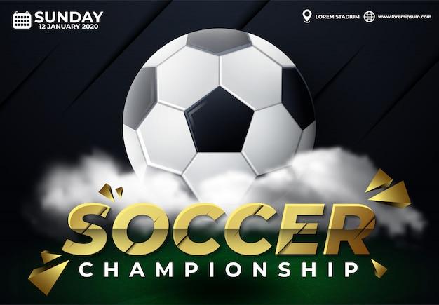 Championnat de ballon de soccer sur les médias sociaux