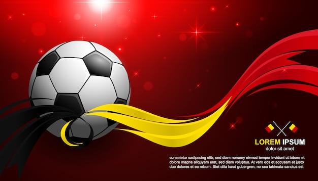 Championnat de la coupe de football belgique flag