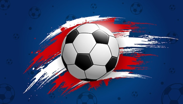 Championnat de la coupe de football avec le football de fond de balle