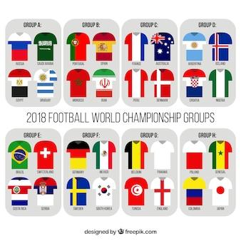 Championnat du monde de football avec différents équipements