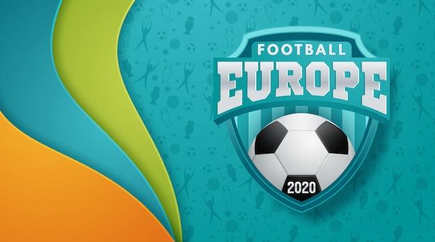 Championnat D'europe De Football 2020 Vecteur Premium