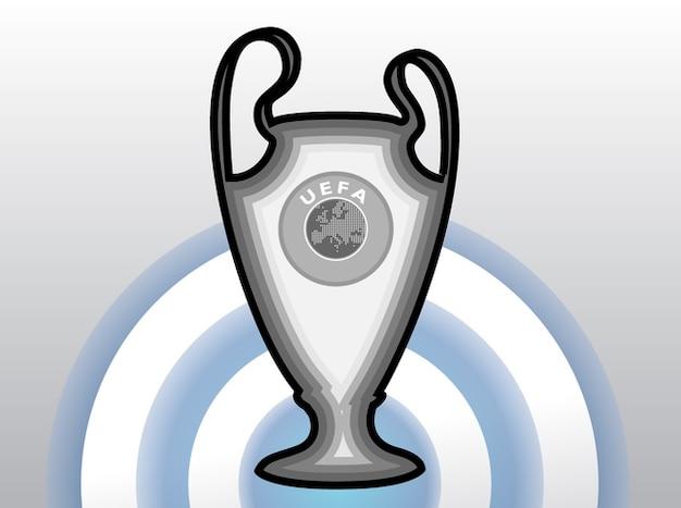 Champions de football trophée de l'uefa cup