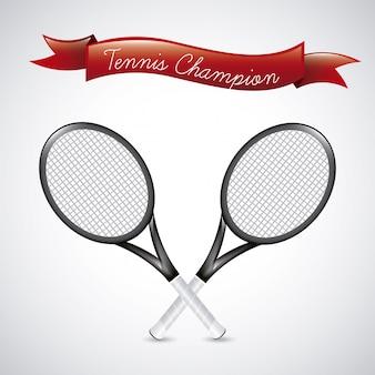 Champions de tennis sur fond vintage