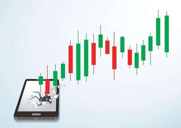 Chandelier smartphone percée de la bourse
