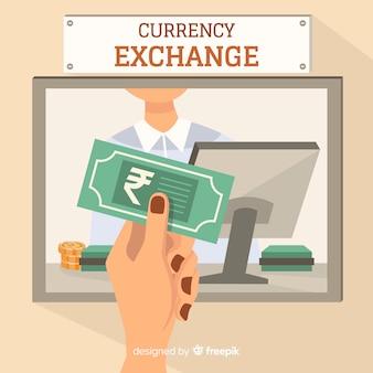 Change de roupie indienne