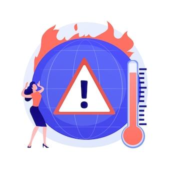 Changement climatique de la terre, augmentation de la température, réchauffement climatique. incendies multiples, destruction de la flore et de la faune, dommages à la faune et à l'humanité sur la planète
