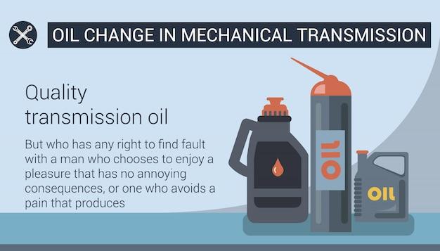 Changement d'huile dans la transmission mécanique. .