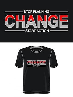 Changer la typographie pour le t-shirt imprimé