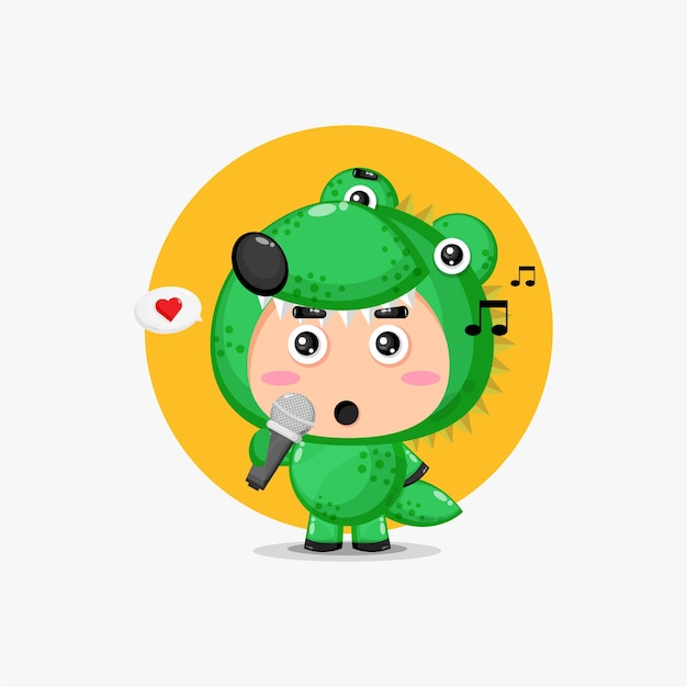 Chant de mascotte de crocodile mignon