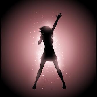 Chanteuse silhouette