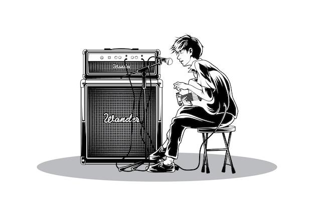 Chantez en illustration acoustique