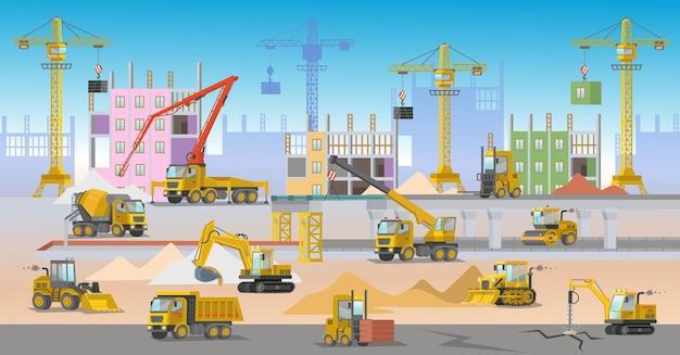 Ð¡ chantier de construction avec camion de chantier