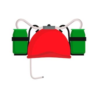 Chapeau de bière illustration rouge boisson