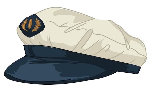 Chapeau conçu en vecteur de style marin ou nautique