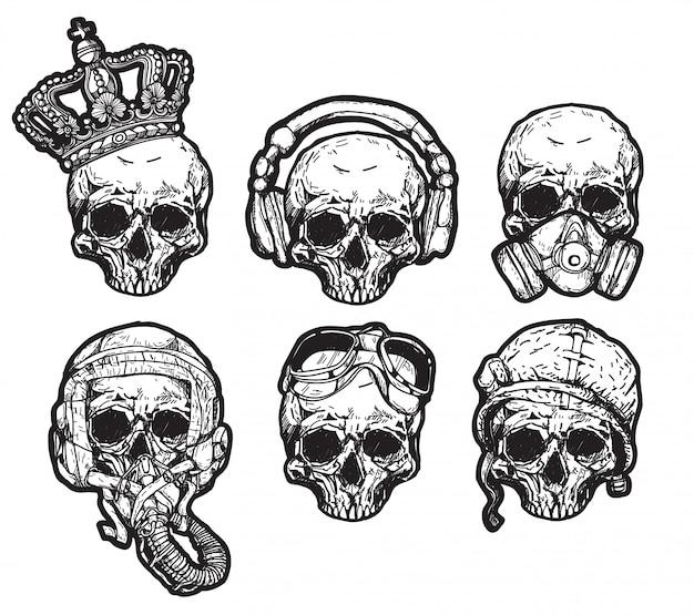 Chapeau de crâne de tatouage