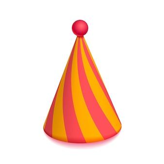 Chapeau de fête coloré lumineux pour la célébration sur blanc
