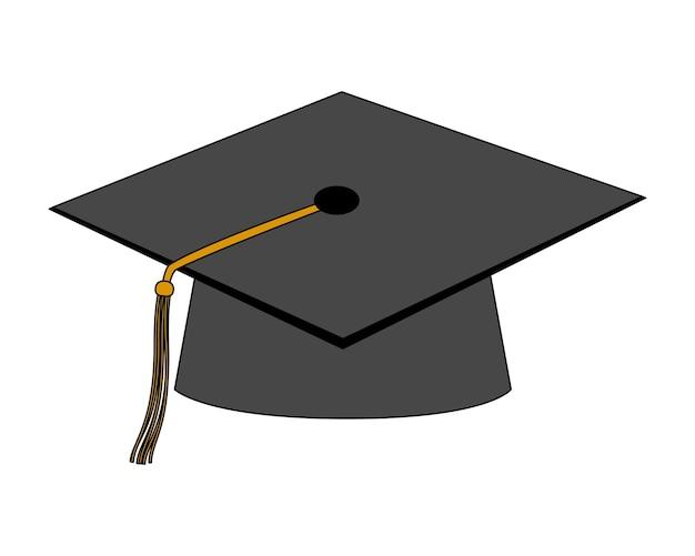 Chapeau graduation isolé icône vector illustration design