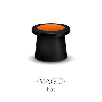 Chapeau de magicien isolé sur fond blanc