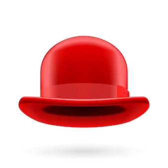 Chapeau melon rouge