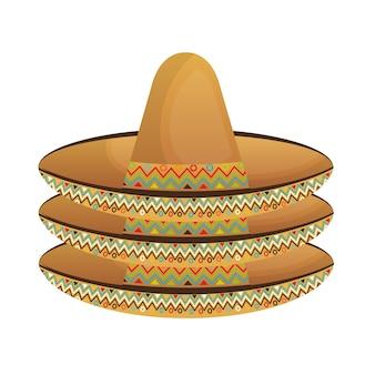 Chapeau mexicain classique icône vector illustration design