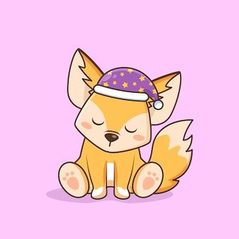 Chapeau de nuit mignon renard fennec
