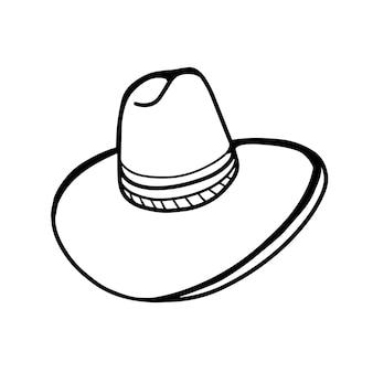 Chapeau de paille à large bord isolé sur fond blanc