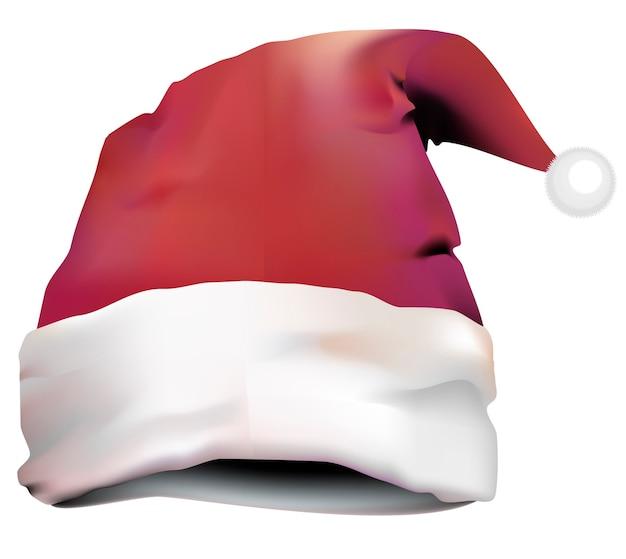 Chapeau De Père Noël Isolé Vecteur gratuit