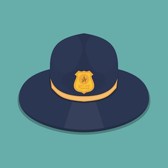 Chapeau de police dans un design plat