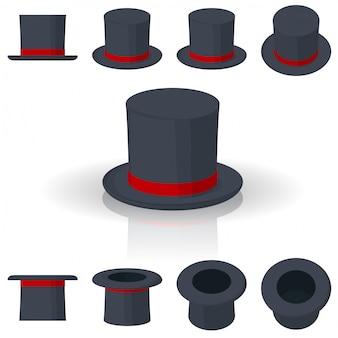 Chapeau en soie 3d