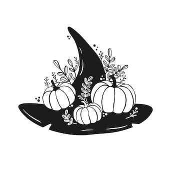 Chapeau de sorcière svg halloween chapeau svg assistant chapeau svg fichier cricut
